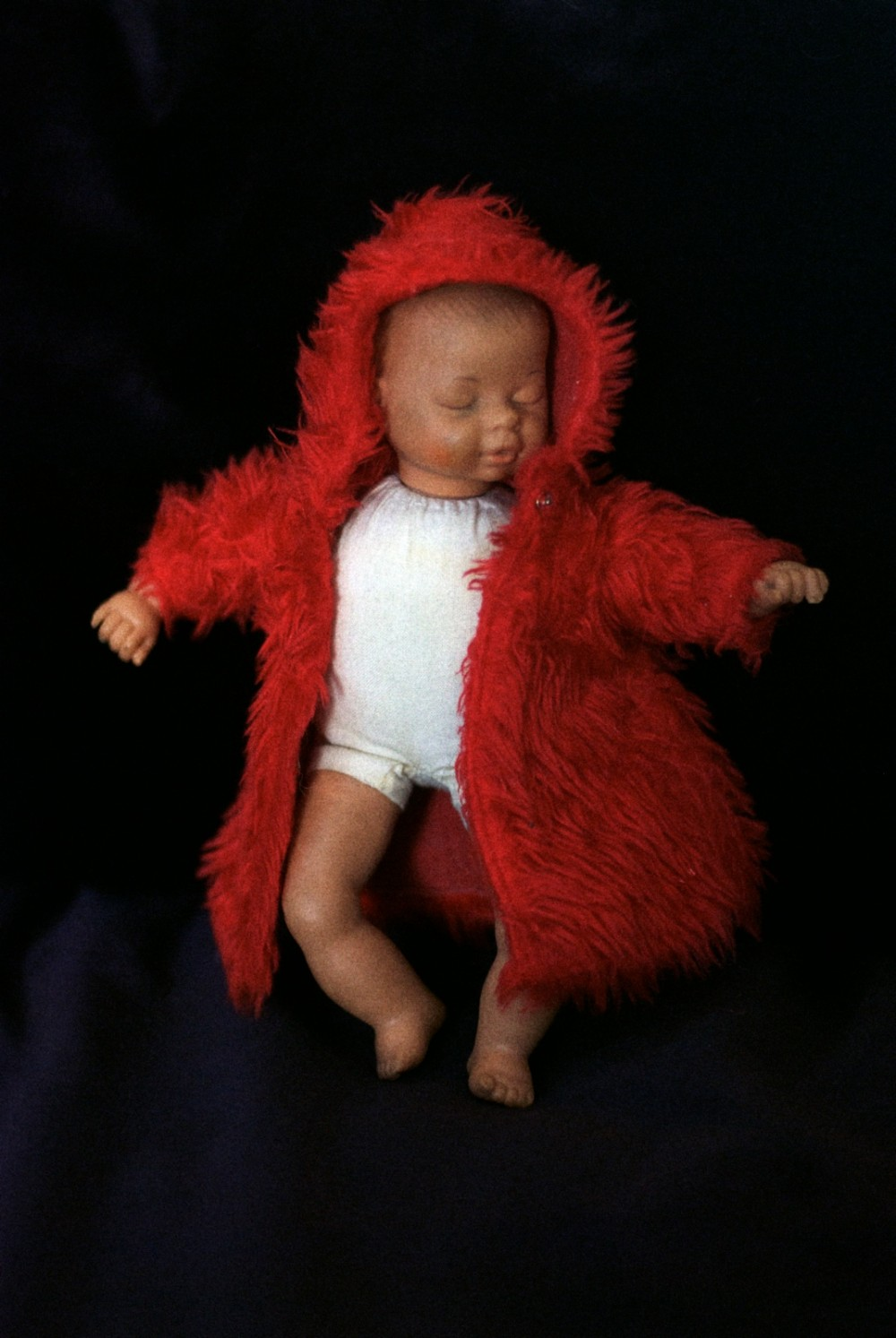09 Dec - Red Fur Coat Baby